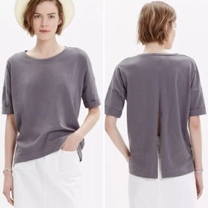 MADEWELL Breeze Back Tee Gray Size Small